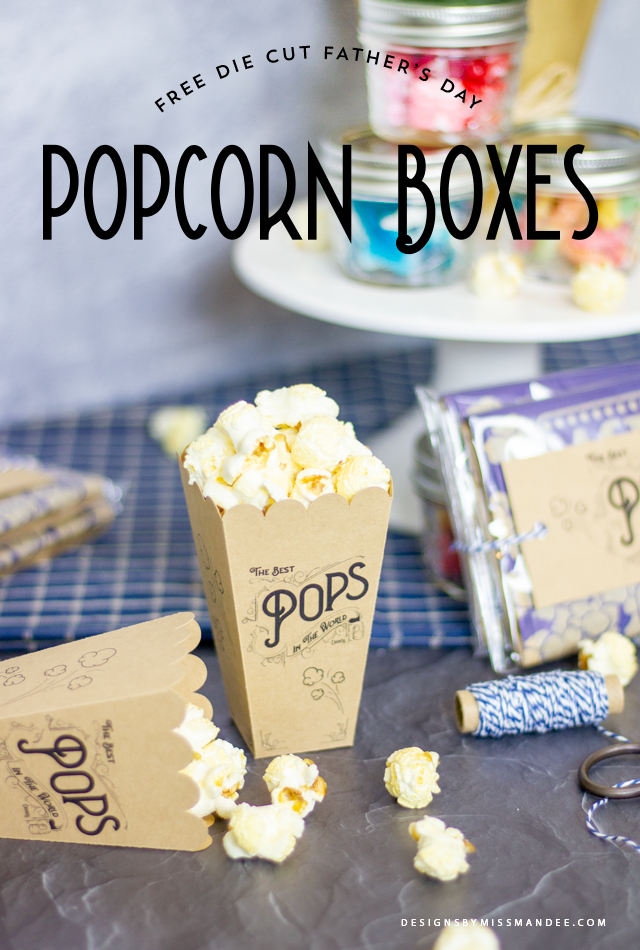 Father's Day Popcorn Boxes