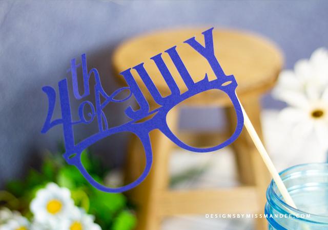 Die Cut 4th of July Glasses