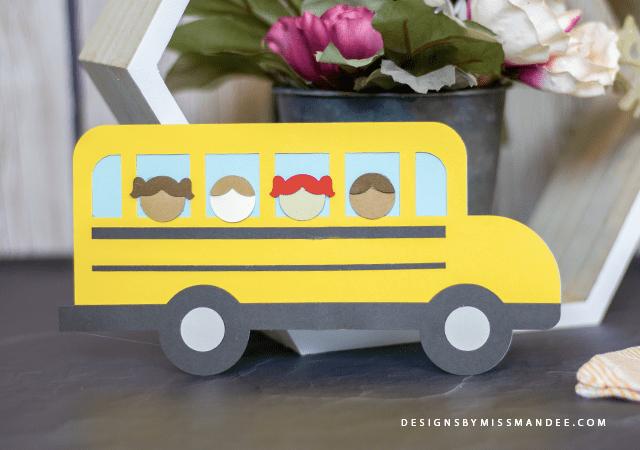 Die Cut School Bus