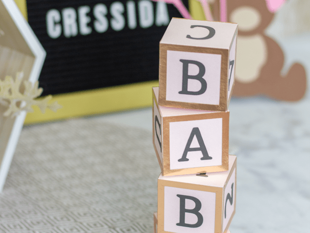 3D Alphabet Blocks
