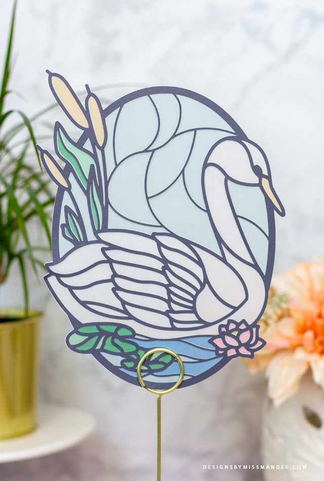 Stained Glass Swan