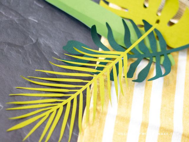 Die Cut Tropical Leaves