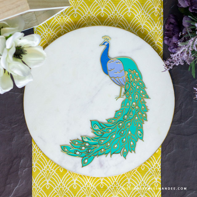 Die Cut Peacock