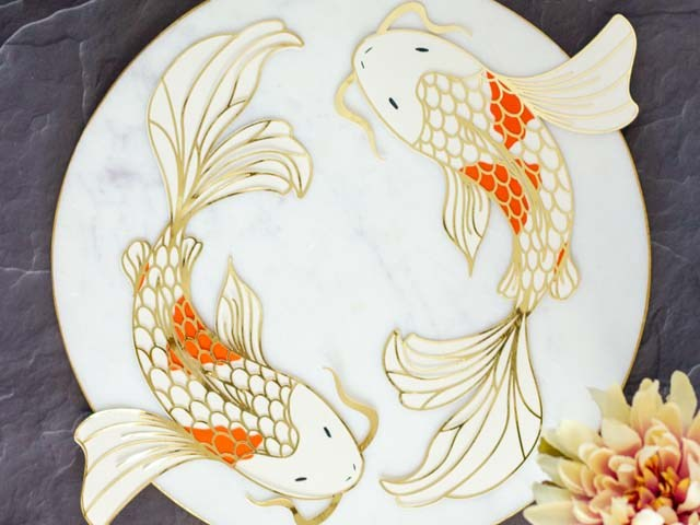 Die Cut Koi Fish