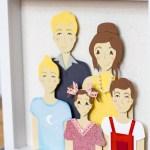 Die Cut Family Portrait Set
