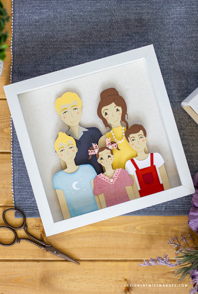 Die Cut Family Portrait Set