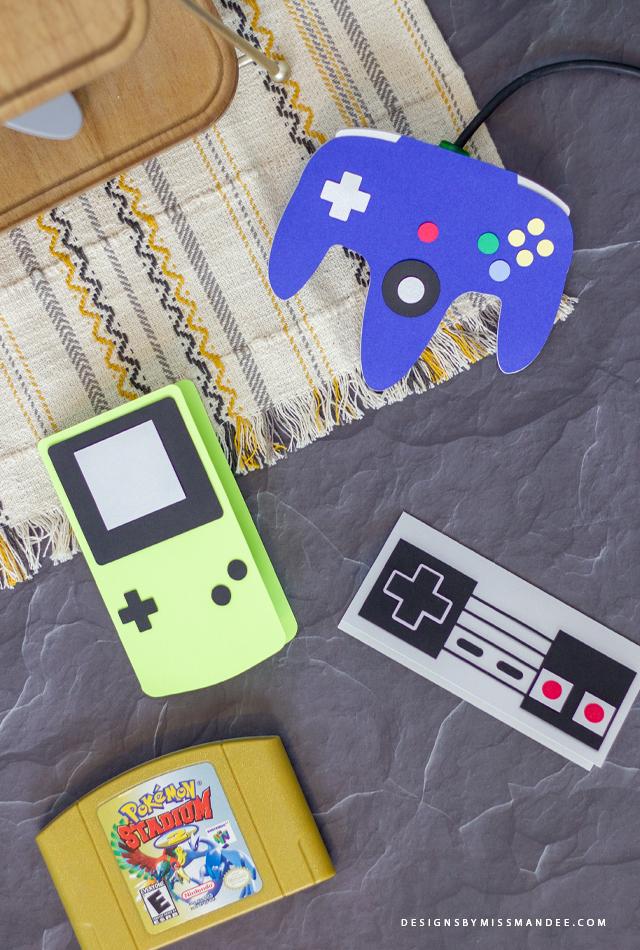 Retro Game Controller Cards