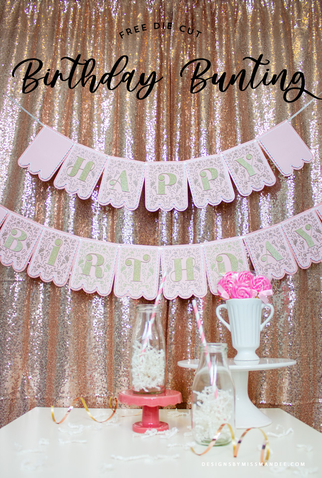 Detailed Birthday Bunting