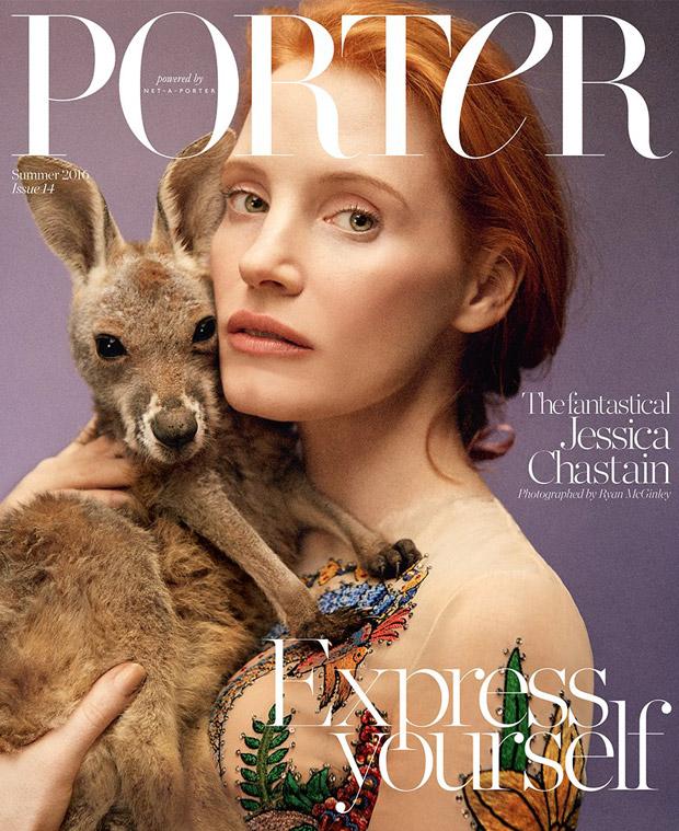 Jessica Chastain Covers Porter Magazine Summer 2016