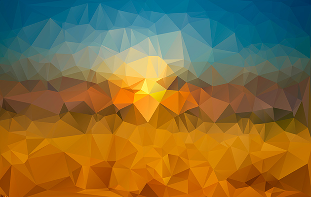 530 free geometric low poly backgrounds pack     Amanecer   copia
