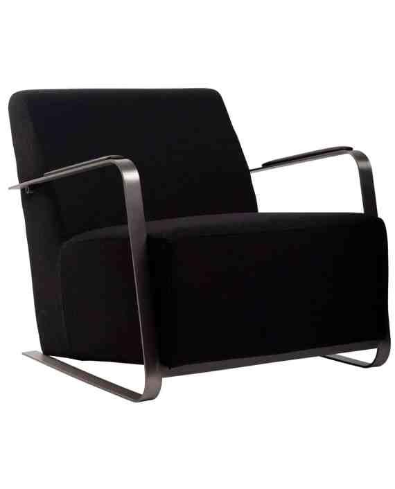 Adwin loungestoel Zuiver zwart 1