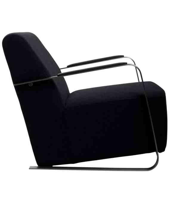 Adwin loungestoel Zuiver zwart 3