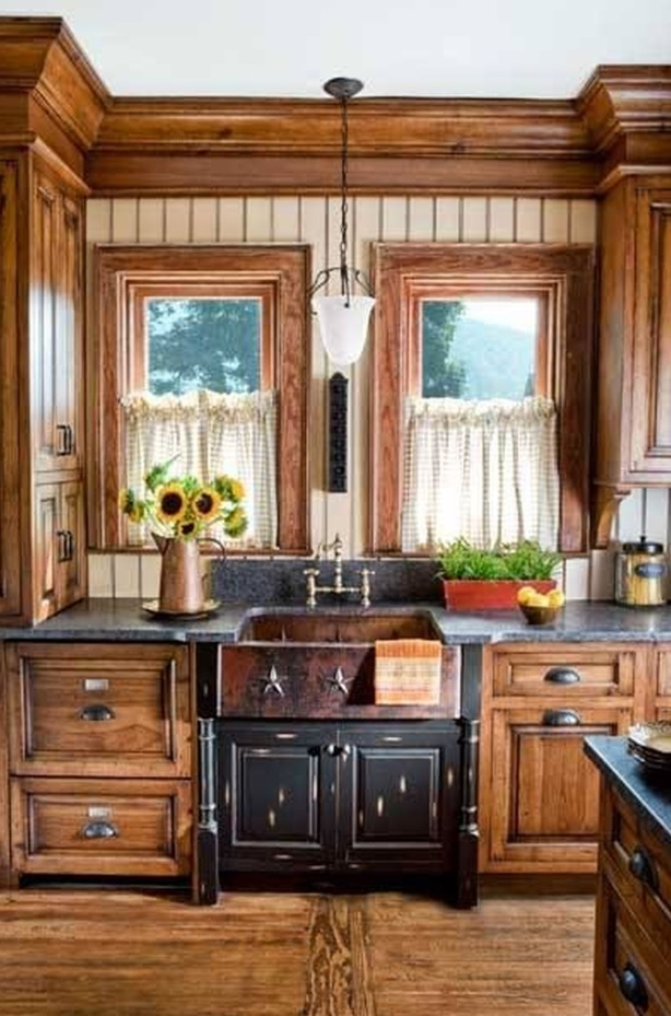 Mountain Rustic Kitchen Cabinet