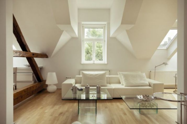 Elegant attic living room design