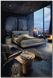 Masculine Bedrooms Apartment Decorating Interior Design for Men 28