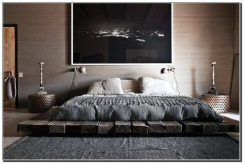 Masculine Bedrooms Apartment Decorating Interior Design for Men 39