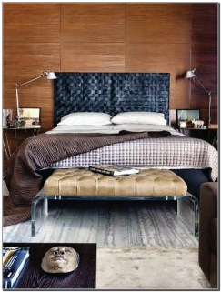 Masculine Bedrooms Apartment Decorating Interior Design for Men 50