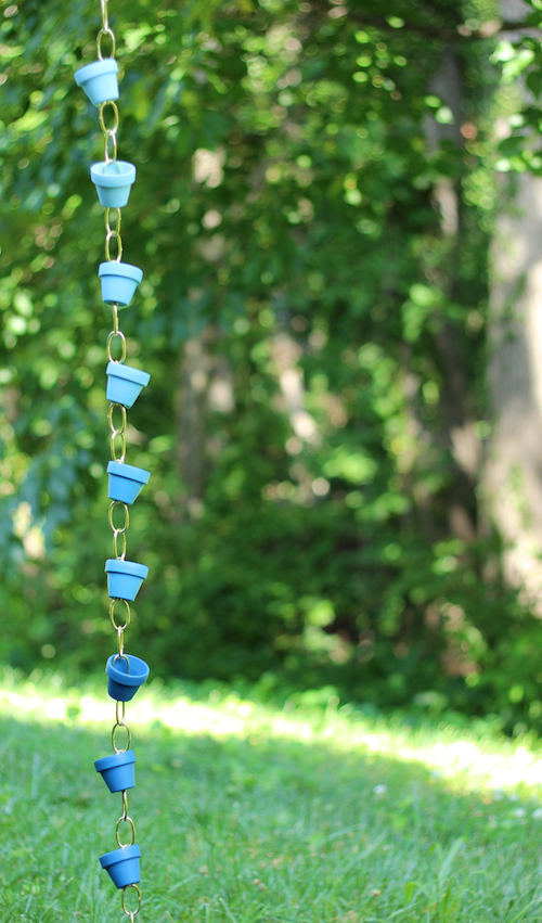 diy mini pot rain chain
