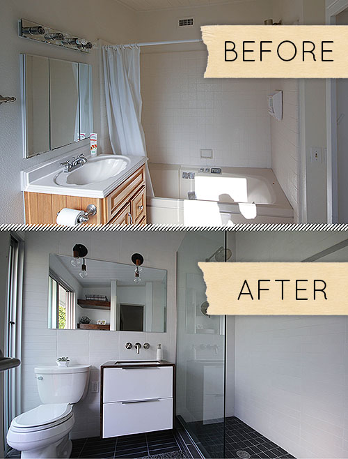 Small Modern Bathroom Remodel: Before & After on Modern Small Bathroom Remodel  id=59720