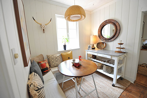 Before Amp After A Breakfast Nook Seriously Lightens Up