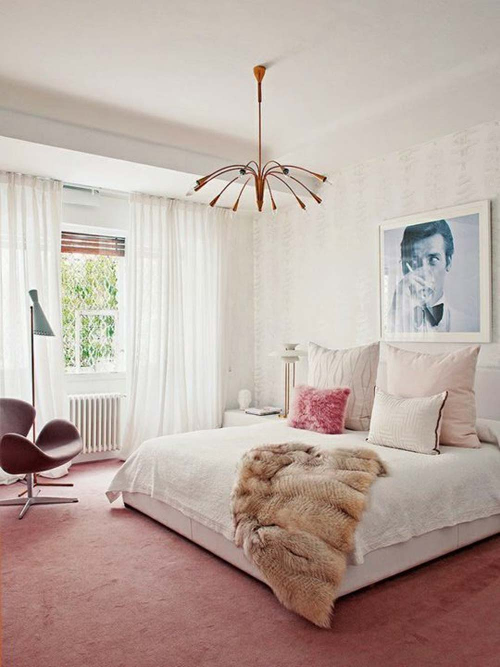 Not only are they an opportunity to add style and character, they're also a very practical accent piece. 10 Perfect Pink Bedrooms – Design*Sponge
