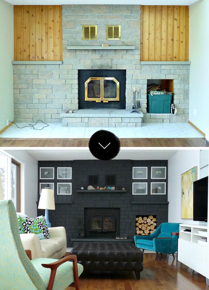 Before Amp After Gorgeous Fireplace Makeovers DesignSponge
