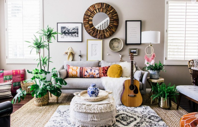 Effortless Boho Style Transforms A 90s Cookie Cutter Home Design Sponge