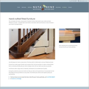 Nuta Bene website furniture page