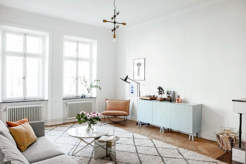 Scandinavian Pastel interior design living room