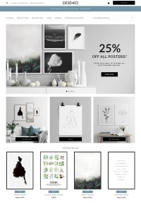 Design scandinavian online and poster shop