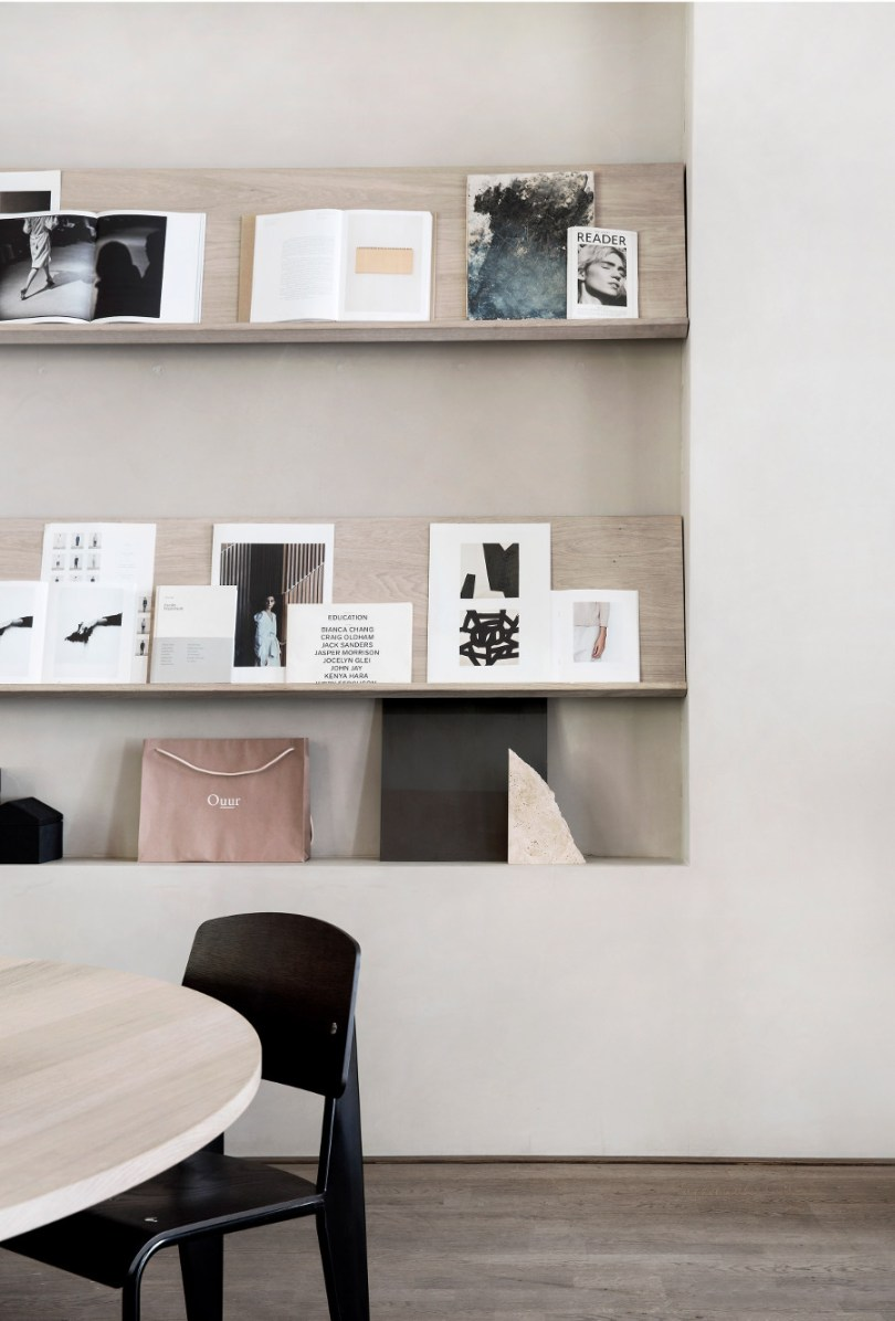 Kinfolk office design - gallery wall by Norm Architects via Design Studio 210