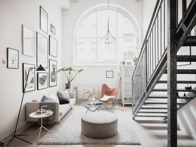 Scandinavian industrial living space