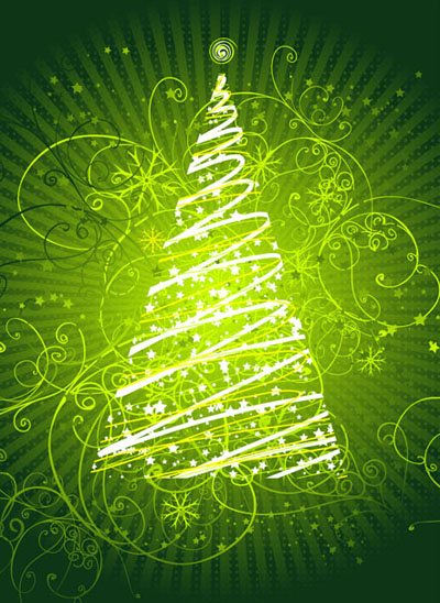 Christmas Card Background Design Design Swan