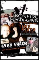 Tiny Fists 2012 Tour Flier- Bonfire Madigan + Evan Greer