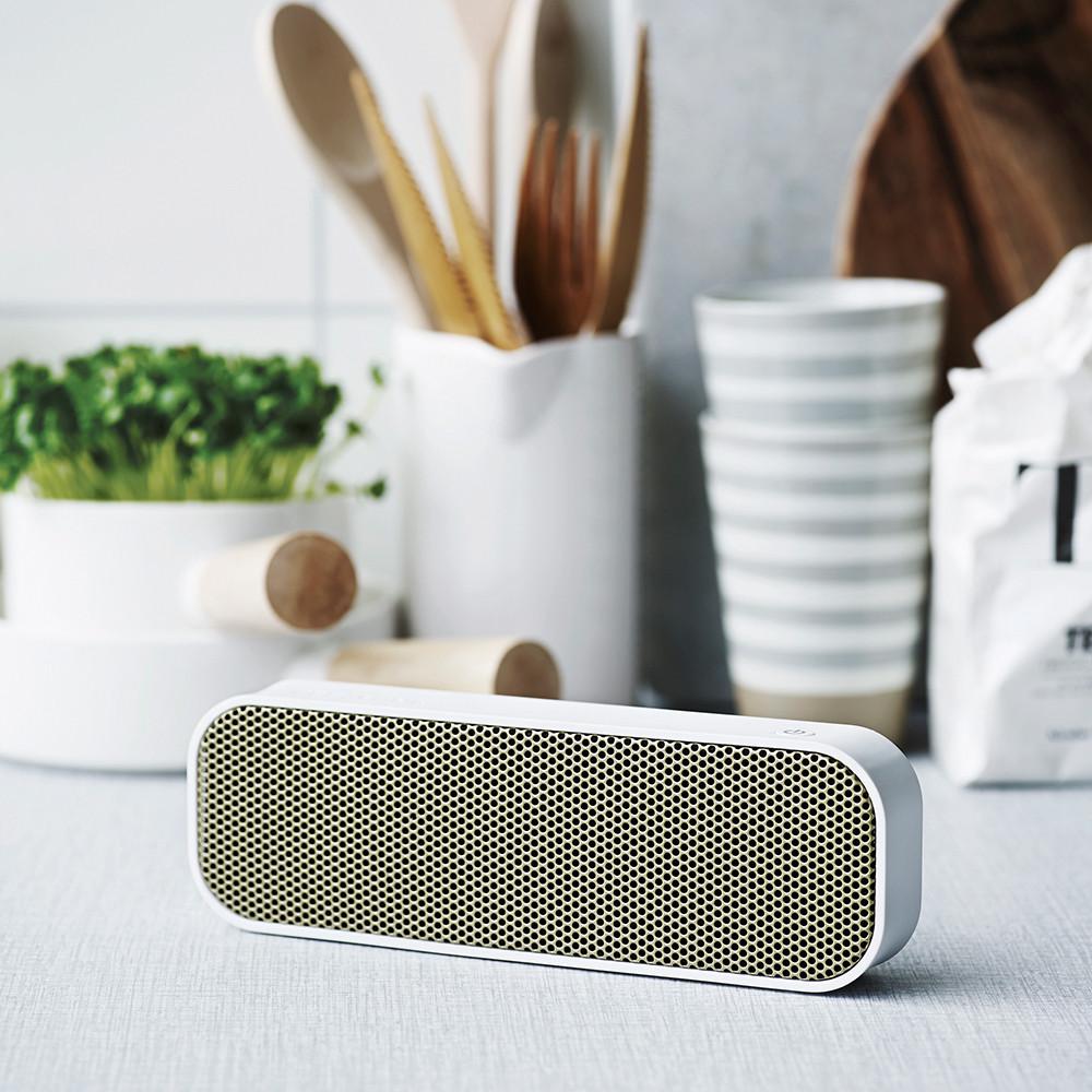 White aGroove Bluetooth Speaker