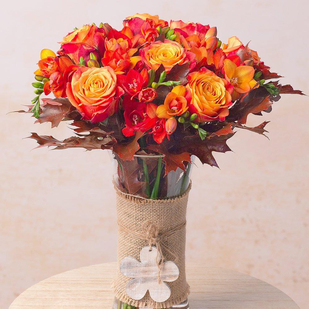 Autumn Freesias & Roses Bouquet