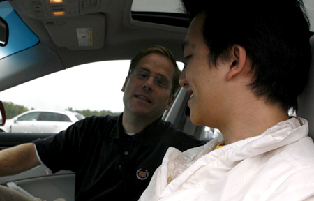 GM test drive detroit driving Cadillac CTS talk
