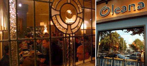 Oleana restaurant