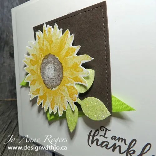 make a perfect fall sunflower card