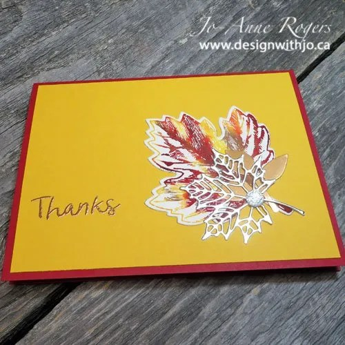 embellished easy watercolour leaf cards