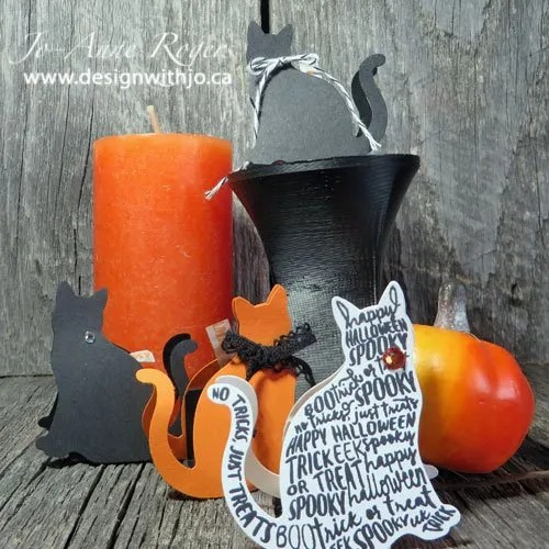 spooky cat Hershey's kiss treat holder