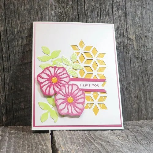 great cards combine die cuts and patterned paper