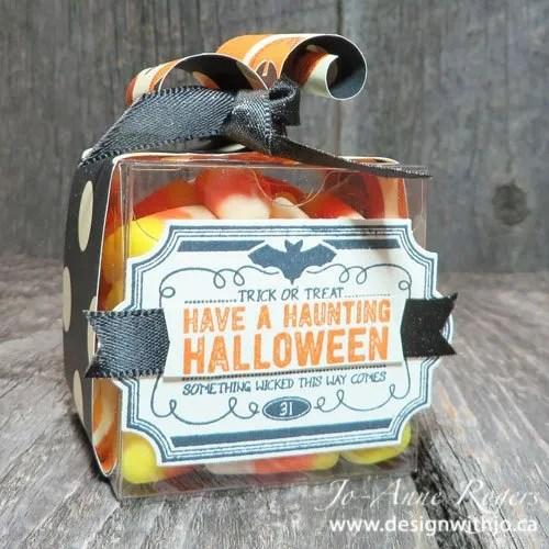 How to Wrap Mini Halloween Treat Boxes