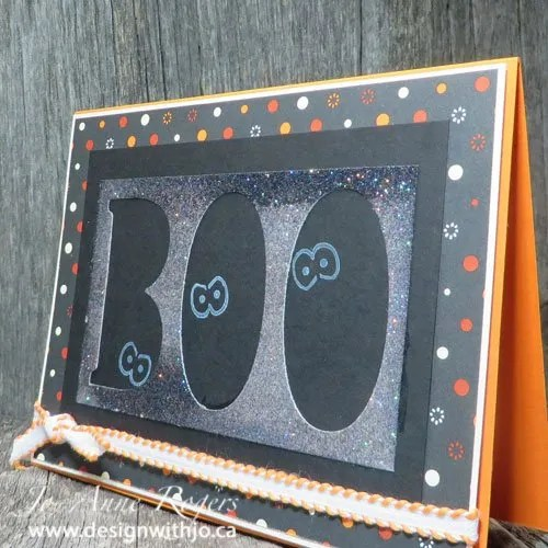 Make a Halloween Boo Card from Paper Scraps