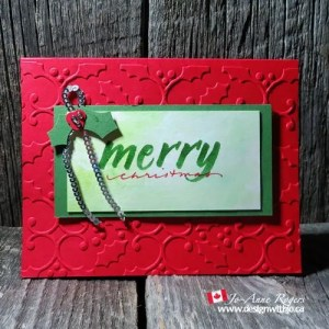 brush lettering Christmas cards