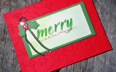 Brush Lettering Christmas Cards