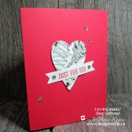 Make a Zentangle Valentine with Heart Shaped Cutouts
