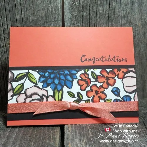 colour patterned paper with Stampin Up alcohol based markers
