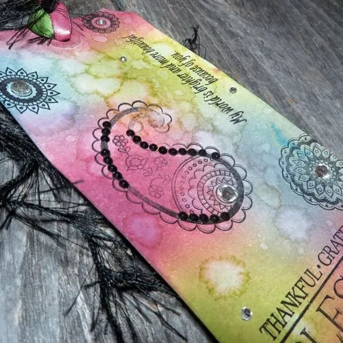 Not Your Ordinary Rubber Stamped Art Tag