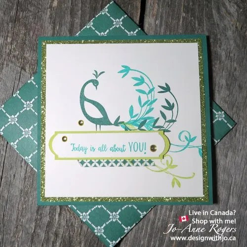 Stampin Up Beautiful Peacock Sale-a-bration 2018